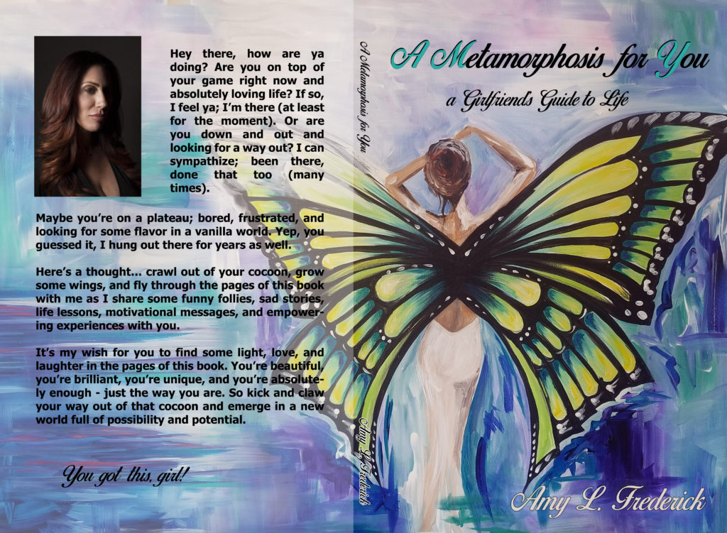 "Cover of ""A Metamorphosis for You,"" a book by Amy Frederick with jacket art by Thays Franca"