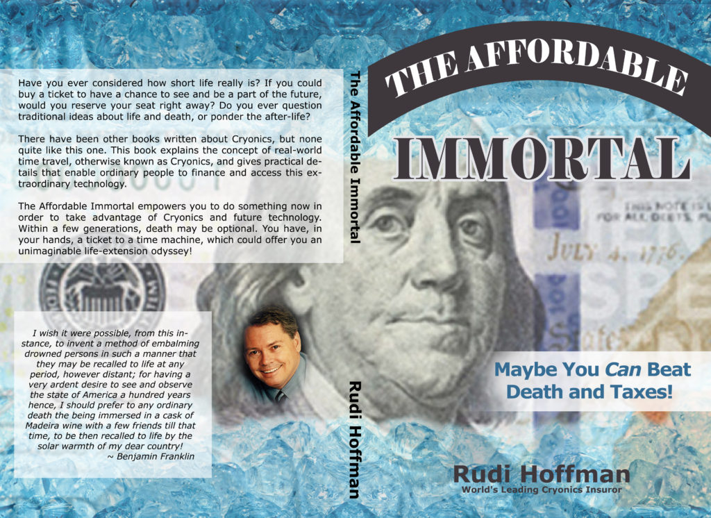 "Jacket art for the book ""The Affordable Immortal"" by Rudi Hoffman"