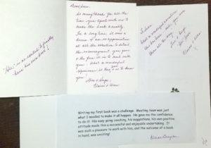 Written testimonials from Elaine Brayton