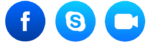 Icons to contact SeanDon via Facebook Skype or FaceTime for Video chat